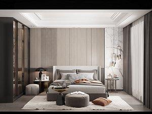 3D Modern Style Bedroom - 540 model
