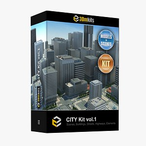 City Kit by 3dm Kits vol1 model