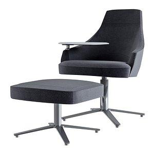 clover swivel lounge chair 3D