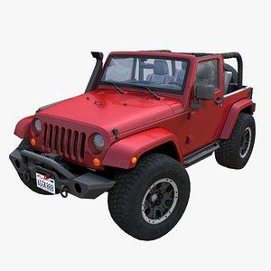 Jeep Wrangler Custom PBR model