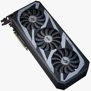 GPU Asus ROG Strix RTX Ampere 3D model