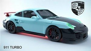 3D Porsche 911 Turbo model
