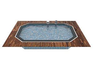 3D Swimming Pool Waterfall