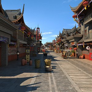 ancient commerce street 3D model