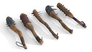 Set of Wooden Maces model