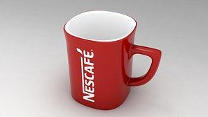 Red Mug Nescafe 3D