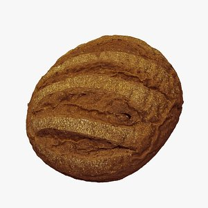 Lithuanian Black Rye Bread - Extreme Definition 3D Scanned model