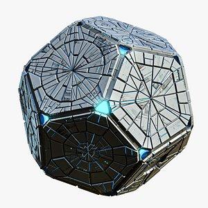 3D Pentagon Spaceship Hedra Real Time