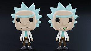 3D Funko Pop Rick
