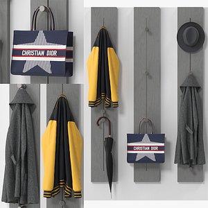 3D Pin Hang Coat Rack model