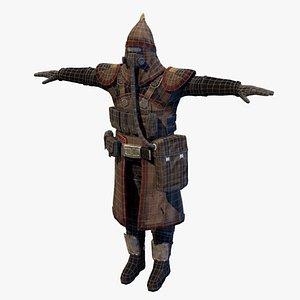3D assassin magician masked model