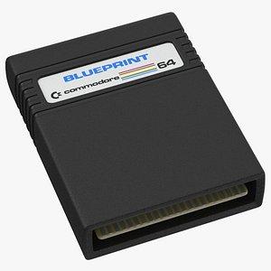 3D commodore 64 cartridge