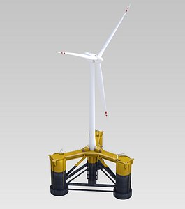3D offshore wind turbine model