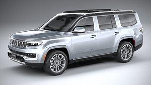 3D Jeep Grand Wagoneer 2022 model