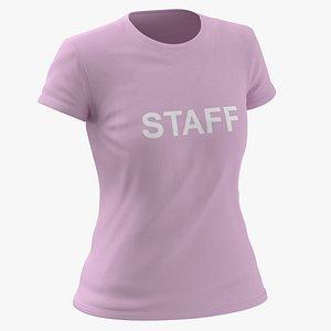 3D Female Crew Neck Worn Pink Staff 02(1)