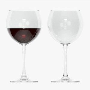 Wine glass 03 3D