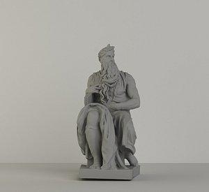 michelangelo mose 3D model