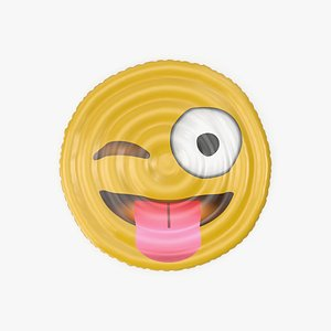 Tongue Out Emoji Pool Float 3D model
