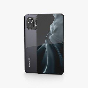 Xiaomi Mi 11 Midnight Gray 3D model