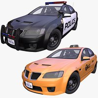 Generic American Police and Taxi pack