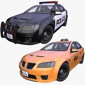 pack generic american taxi model
