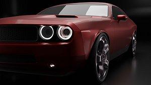 3D dodge challenger car design model