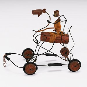 3D alexander calder horse driver model