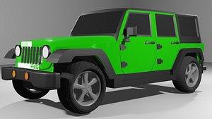 green jeep wrangler car wheels model