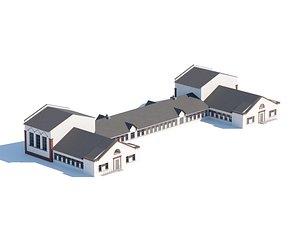 3D Public city building 3d model