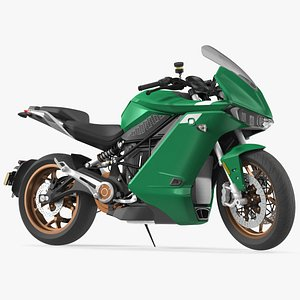 sport motorcycle rigged electric 3D