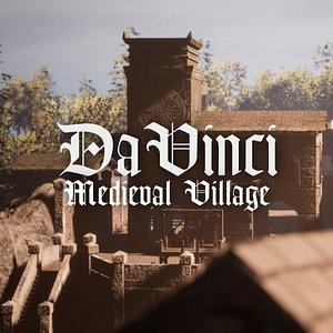 3D model Da Vinci - Medieval Village - Unity HDRP