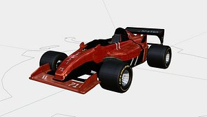 3D f1 simplified rigged model
