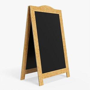board chalkboard display model