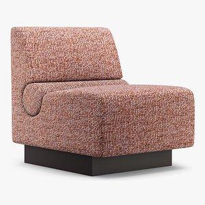 Fabrice Juan - Capsule slipper chair 3D