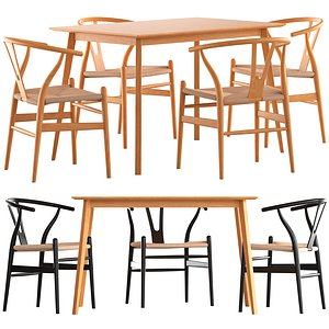 Cult Furniture Wish Chair and Milton Table 3D