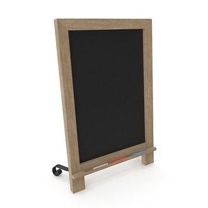 3D Wooden Tabletop ChalkBoard  PBR