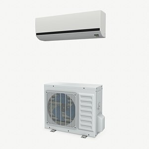 low-poly air conditioner 3D model