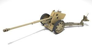 Pak43 antitank gun 88 mm 3D