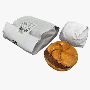 3D bun food snack