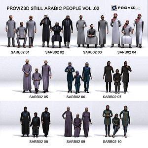 3D People: 30 Still 3D Arabic People Vol. 02 3D model