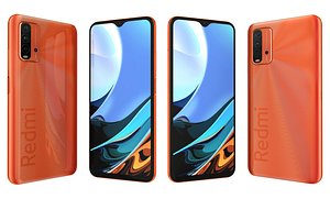 Xiaomi Redmi 9T Sunrise Orange 3D model