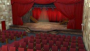 scene interior theater 3D model