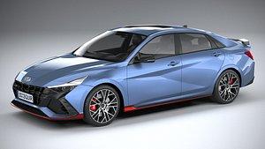 3D model Hyundai Elantra N 2022