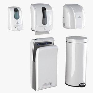 3D Binele equipment kit for hands - white model