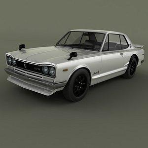 Nissan Skyline GT-R C10 3D model
