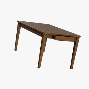 3D dining table wood