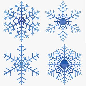 3D Snow Flakes Collection 1