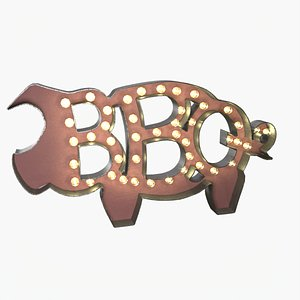 BBQ The Pig Sign model