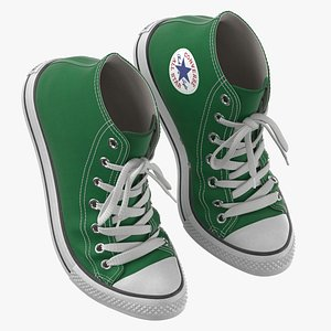 Basketball Shoes Bent Green 3D model