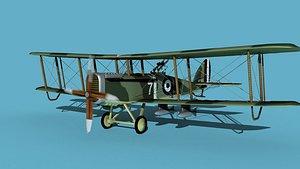 Airco DH-4 V02 Bomber RAF 3D model